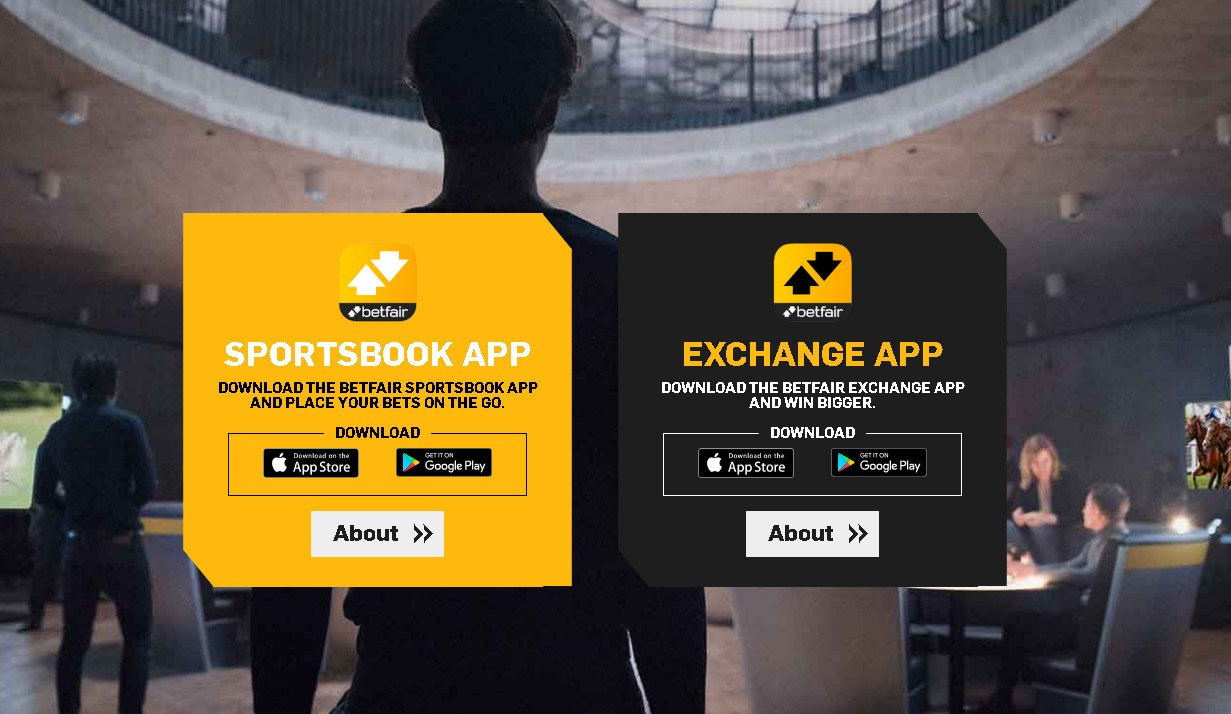 Betfair app for Android and iOS