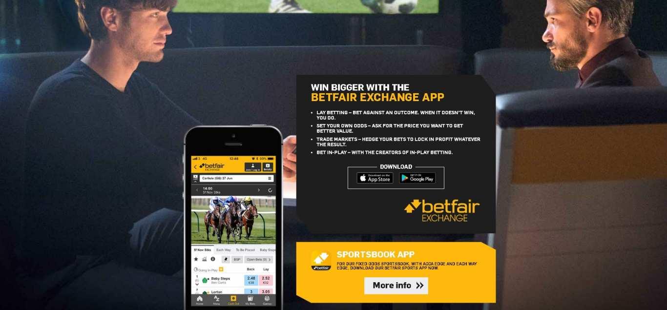 Betfair exchange app