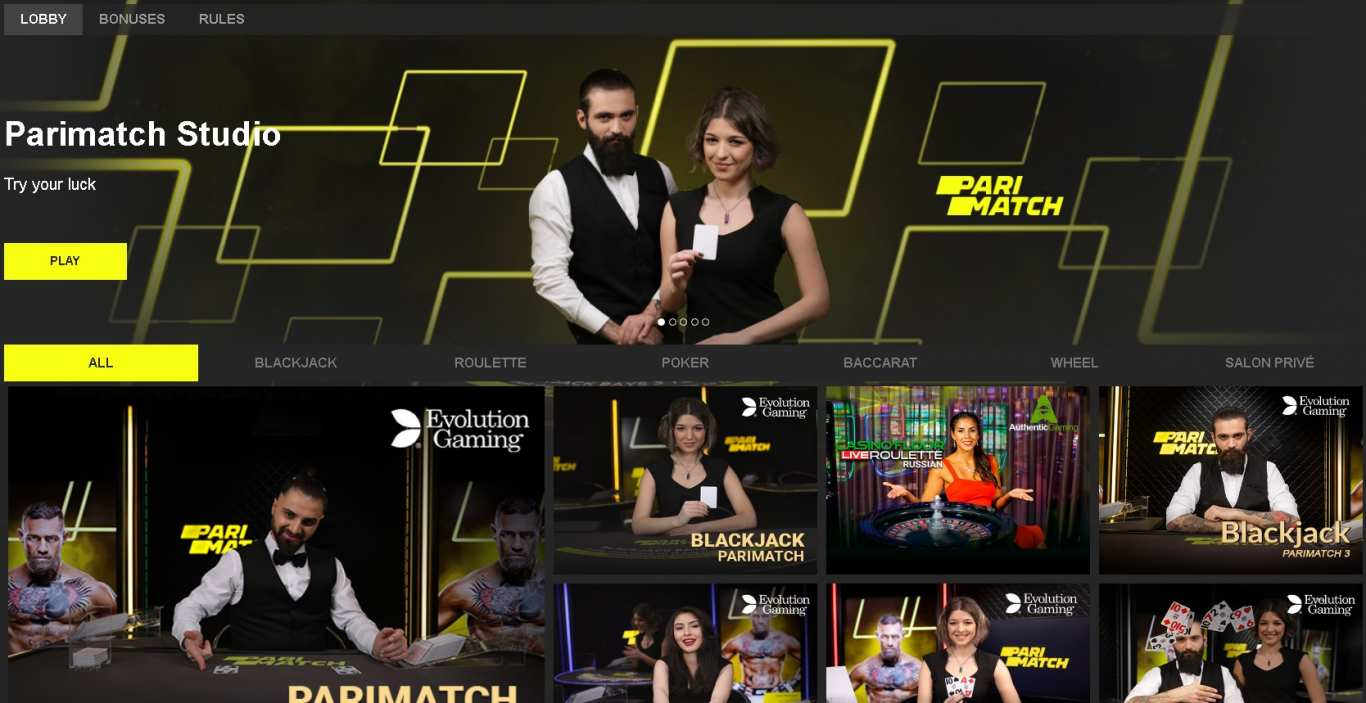 Parimatch live casino