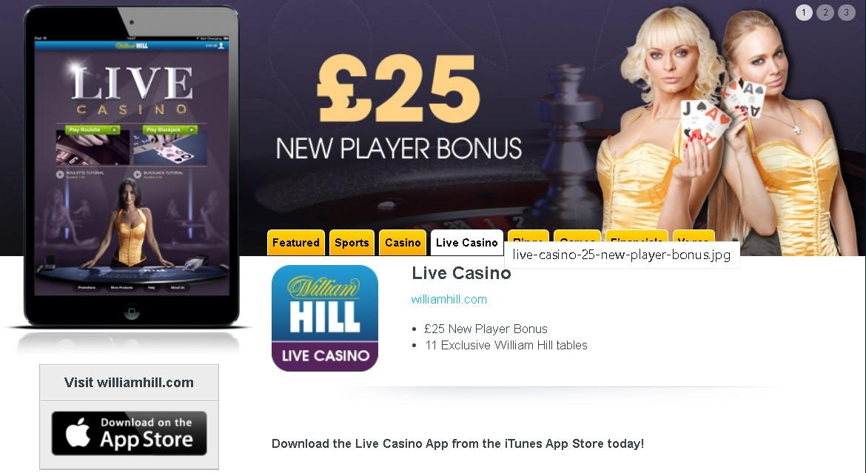 William Hill app for casino