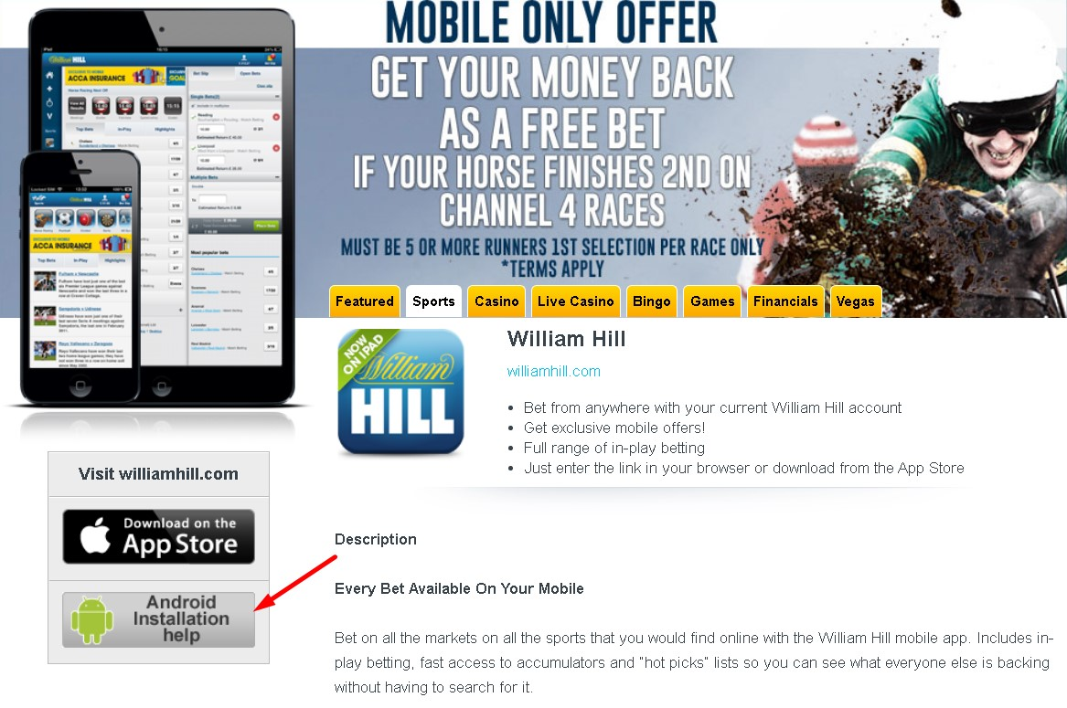 William Hill for Android