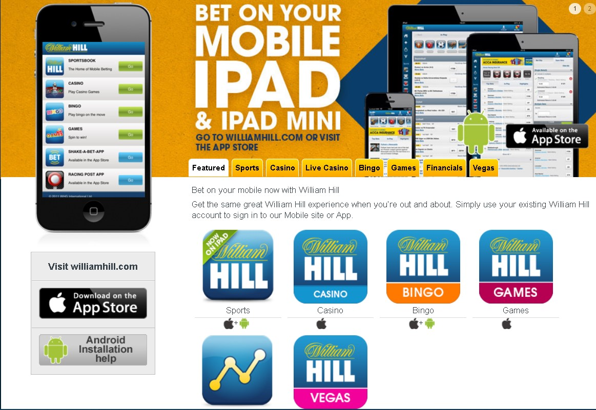 William Hill mobile apps