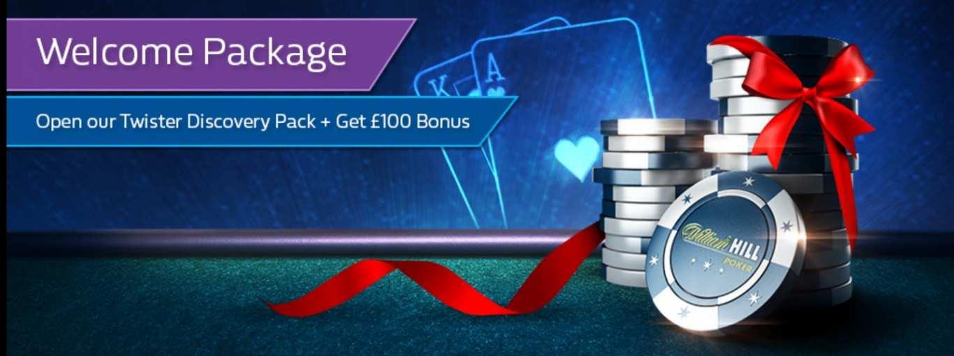 William Hill welcome poker bonus